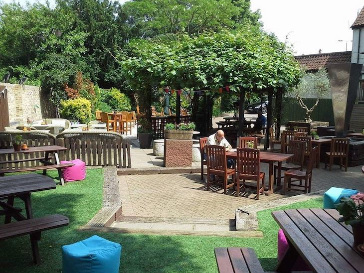 Find one of London's best beer gardens at The Green Man in Putney