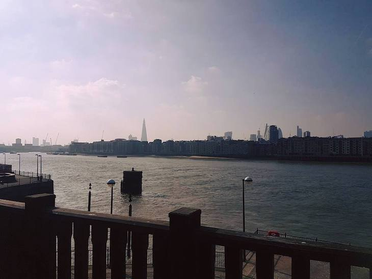 View from one of the best beer gardens in London: Old Salt Quay
