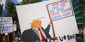 Over One Million Londoners Could Protest Against Trump's UK Visit Next Month