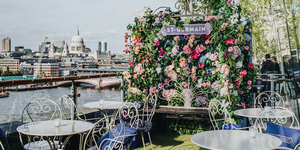 Just Opened: A Fantastically Floral Terrace Bar With Stunning Thames Views