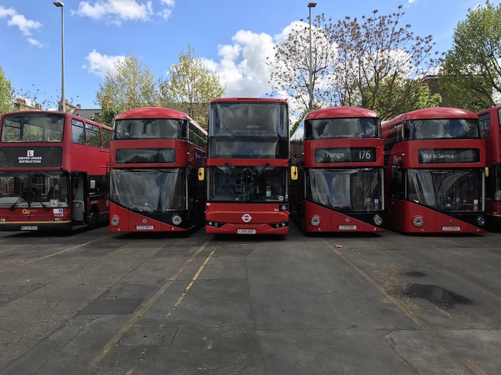 Buses in Camberwell Bus Garage