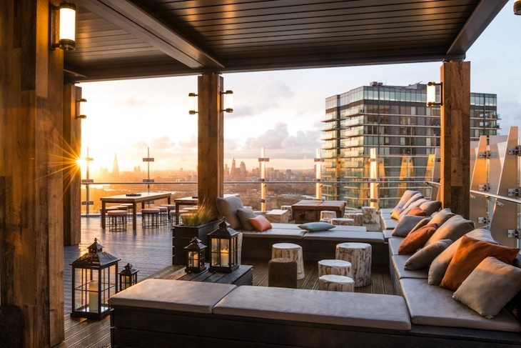 Best rooftop bars in London: Bokan in Canary Wharf