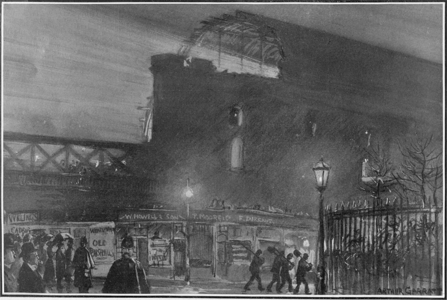 Collapsed Charing Cross station