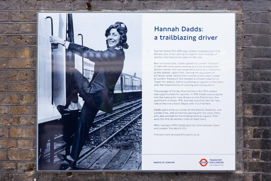 Plaque Unveiled For The Tube's First Female Driver, Hannah