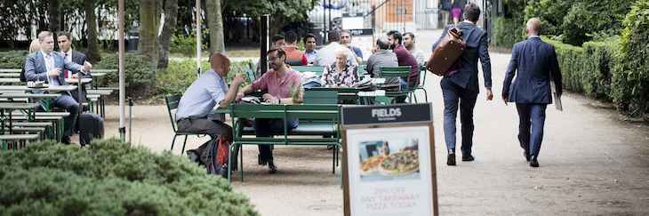Fields Bar and Kitchen in Lincoln's Inn Fields is one of the best park cafes in London