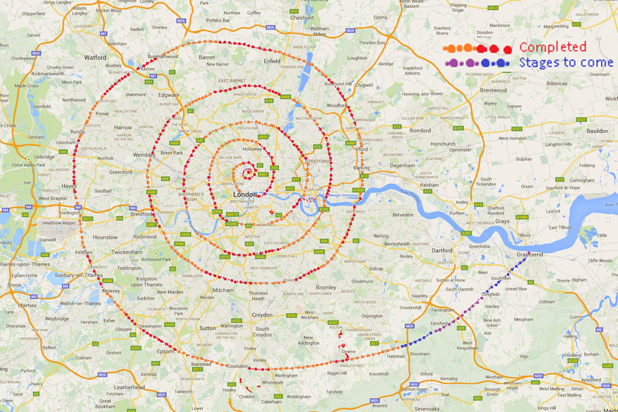 Map Around London.That New Walking Challenge You Were Looking For Try The London