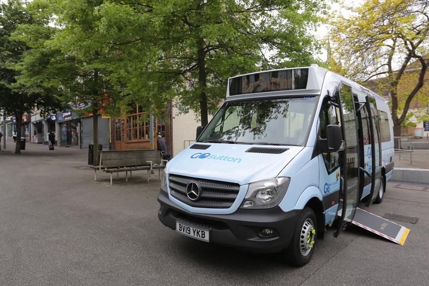 GoSutton on demand bus