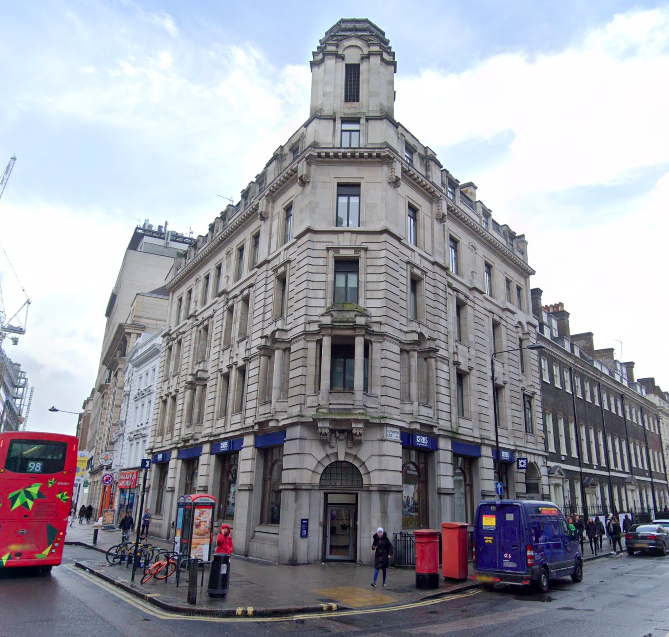 A building by Charles Holden on High Holborn.