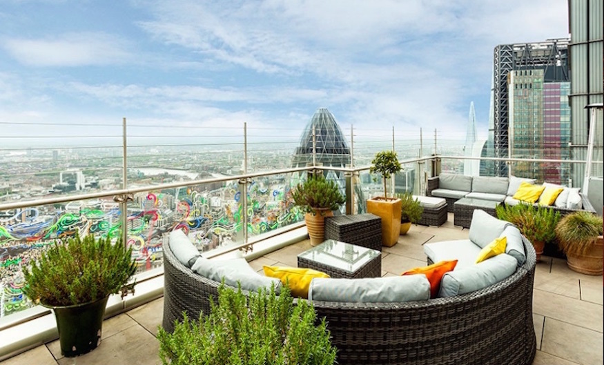 Sushi Samba, home to one of the best rooftop bars in London
