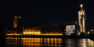 Grenfell United Shine A Condemnatory Light On The Houses Of Parliament