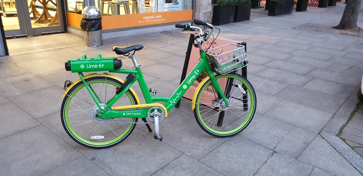 A Lime bike