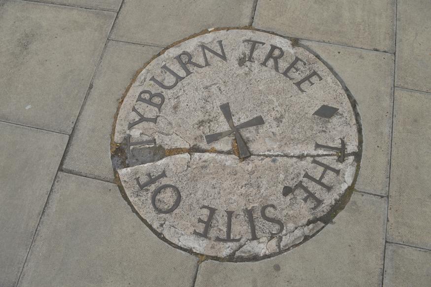 Tyburn Tree marker