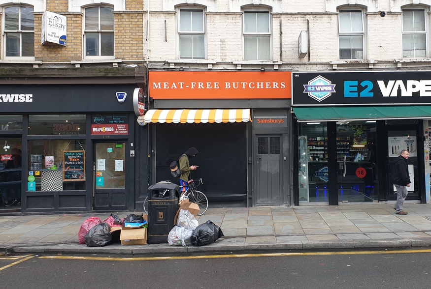 Meat Free Butchers on Bethnal Green Road