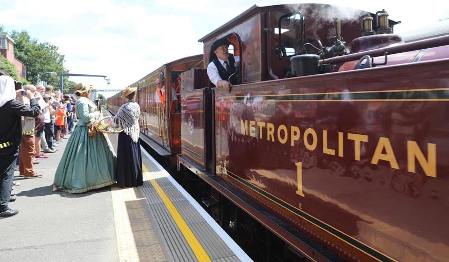 This Was The Last Time A Steam Train Ran Through Central London On A Tube Line