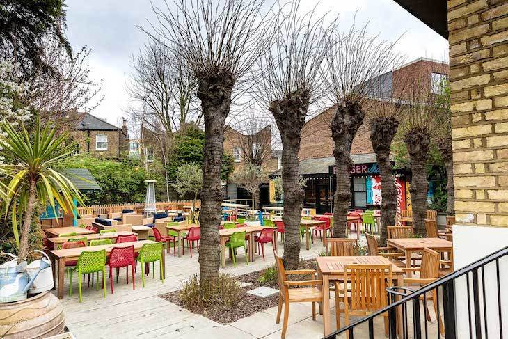 London's best family-friendly pubs includes The Eagle in W12
