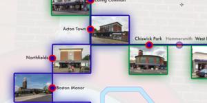 Charles Holden's Tube Stations Mapped