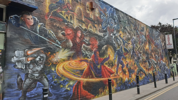 Marvel mural Hanbury Street