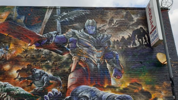 Thanos mural