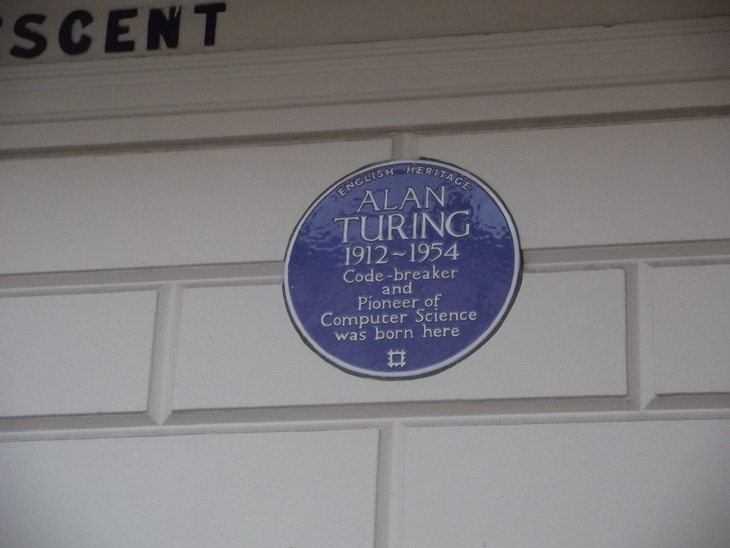 Blue plaque for Alan Turing