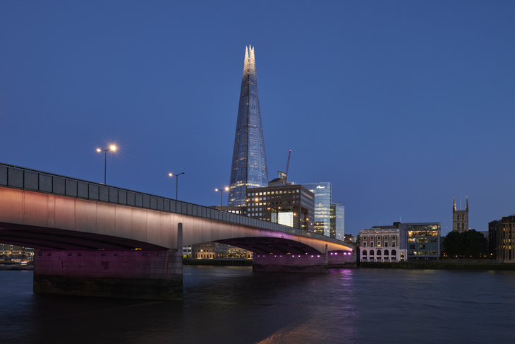 London Bridge with the Shard in the background for Illuminated River