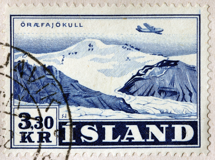 Volcano on a postage stamp