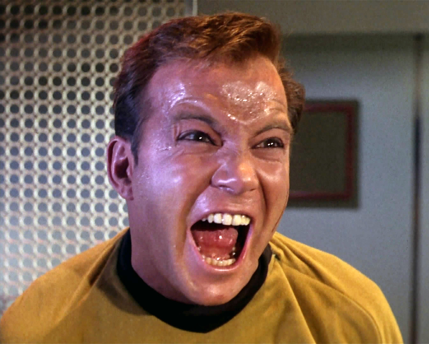 Captain Kirk goes a bit wrong