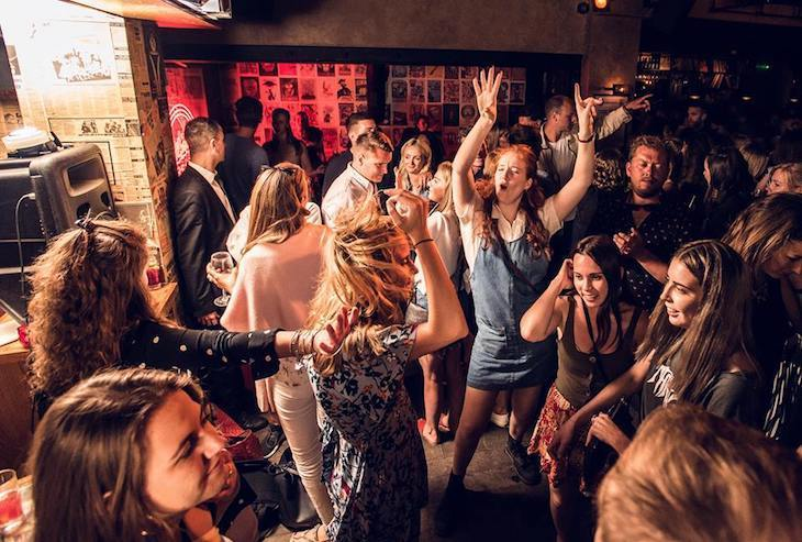 Drinking and dancing, the perfect hen do combination at this bar in London