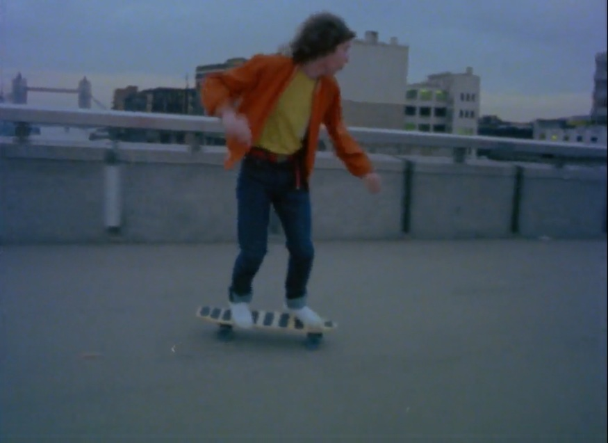 "Skateboarding over the London Bridge. Take a look at the movie and you will switch from ""cool"" to ""pillock""."