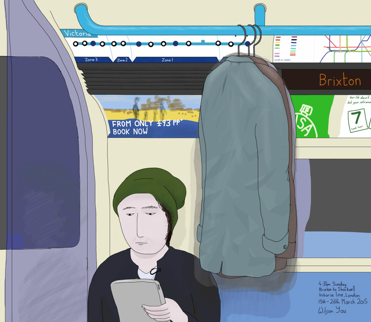 Hanging clothes on the tube drawing