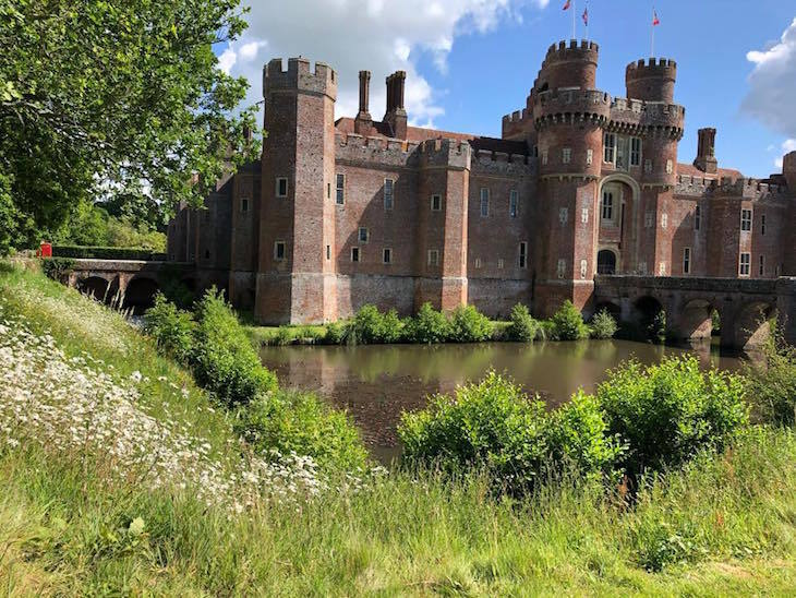Herstmonceux Castle in Sussex, on a day trip from London