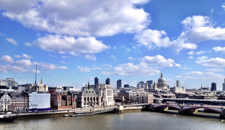 Afternoon tea at Oxo Tower Restaurant, with views of St Paul's, the Square Mile/City of London and River Thames