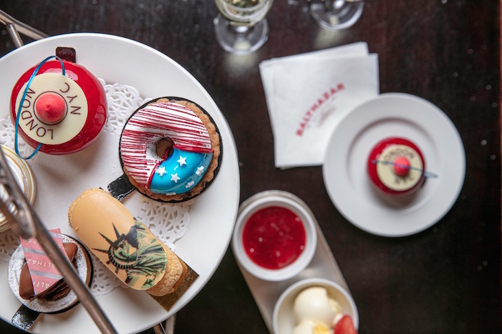 American New York themed afternoon tea at Balthazar, Covent Garden