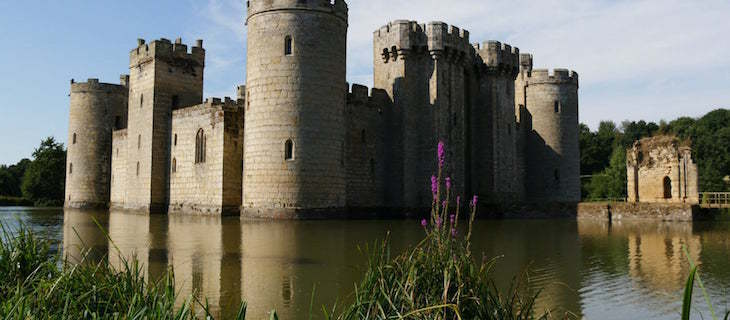 Bodiam Castle in East Sussex, on a day trip from London