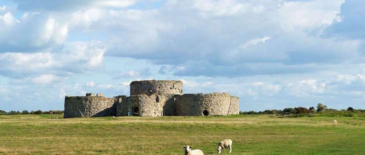 Camber Castle in East Sussex, on a day trip from London