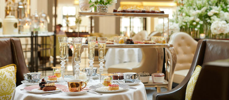 Afternoon tea at Corinthia Hotel on Northumberland Avenue, near Trafalgar Square, London