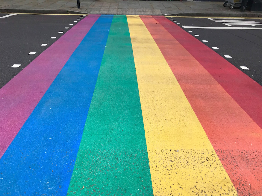 Rainbow Crossing in Herne Hill