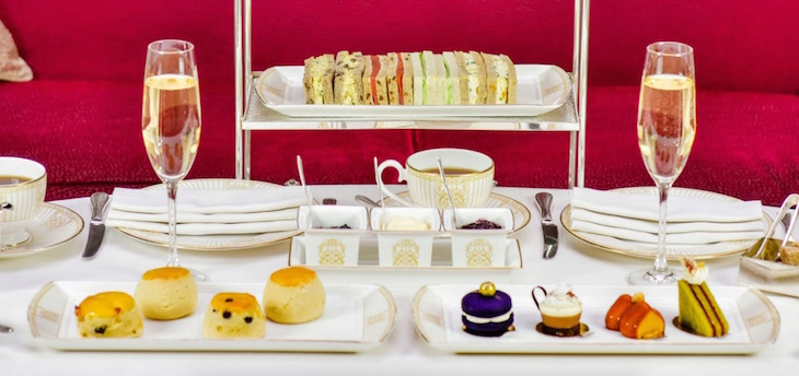 Afternoon tea at the Landmark Hotel in Marylebone, near Baker Street and Madame Tussauds