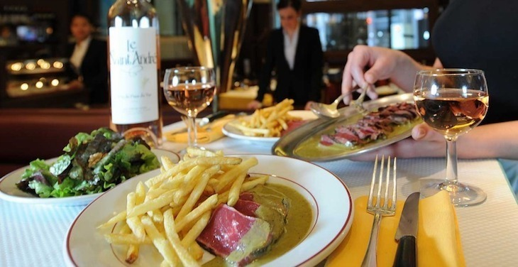Steak is the name of the game at Le Relais de Venise restaurant in London