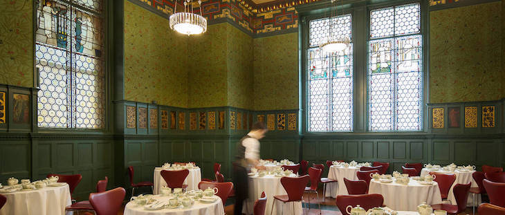 The Morris Room at the V&A's restaurant - afternoon tea in South Kensington