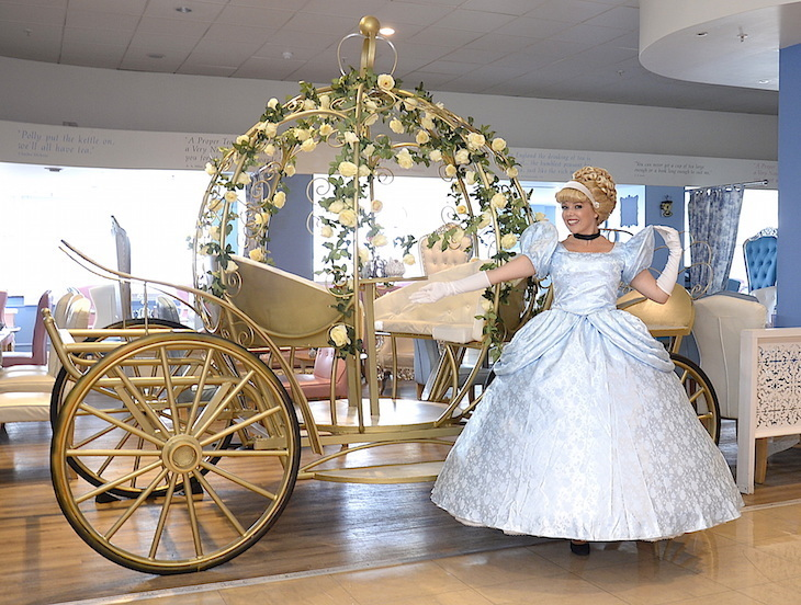 Afternoon tea in a Cinderella carriage at The Tea Terrace