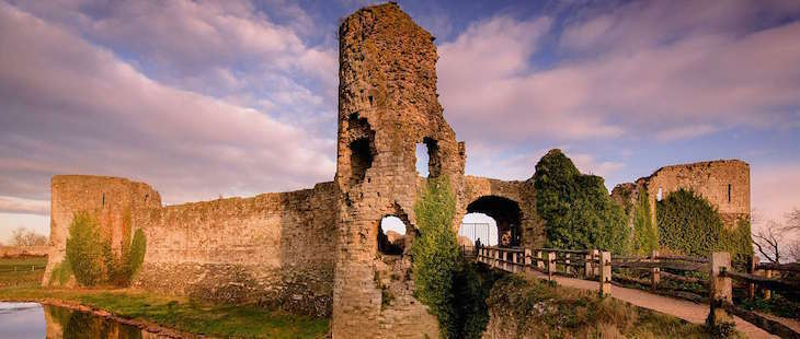 Pevensey Castle in Sussex, on a day trip from London