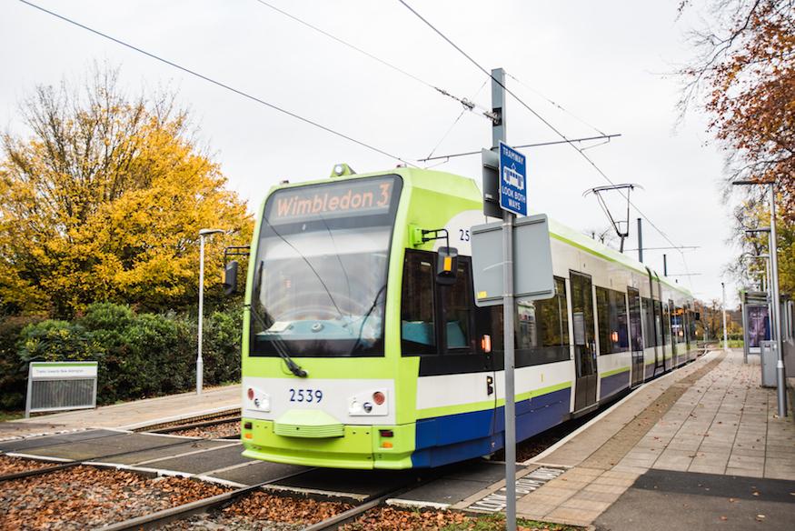 London tram in Croydon