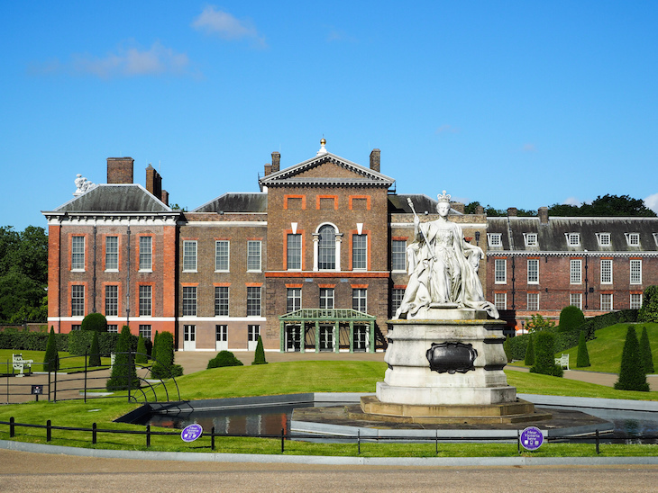 Kensington Palace in Kensington Gardens/Hyde Park