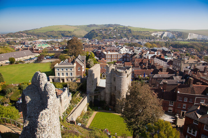 Lewes Castle in East Sussex, on a day trip from London