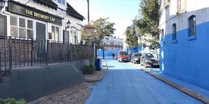 Why Has This Brentford Street Turned Blue?