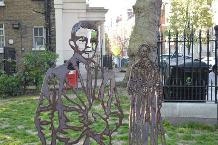 Two statues in Paddington