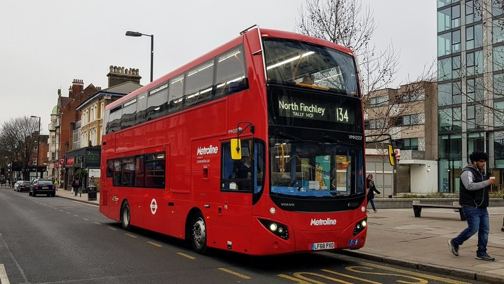 134 bus in Archway