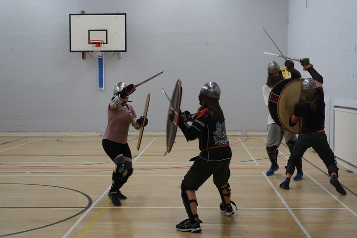 Vikings fighting in Walthamstow