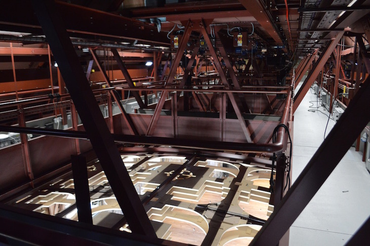 Inside the roof space at BAC