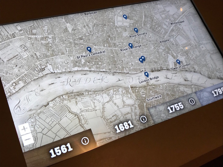 Touch screen map of london